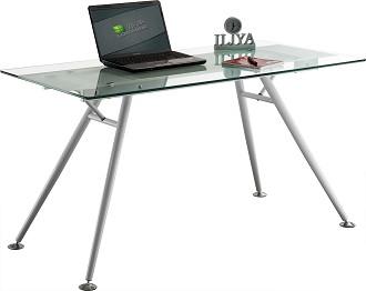 שולחן כתיבה זכוכית פלטה