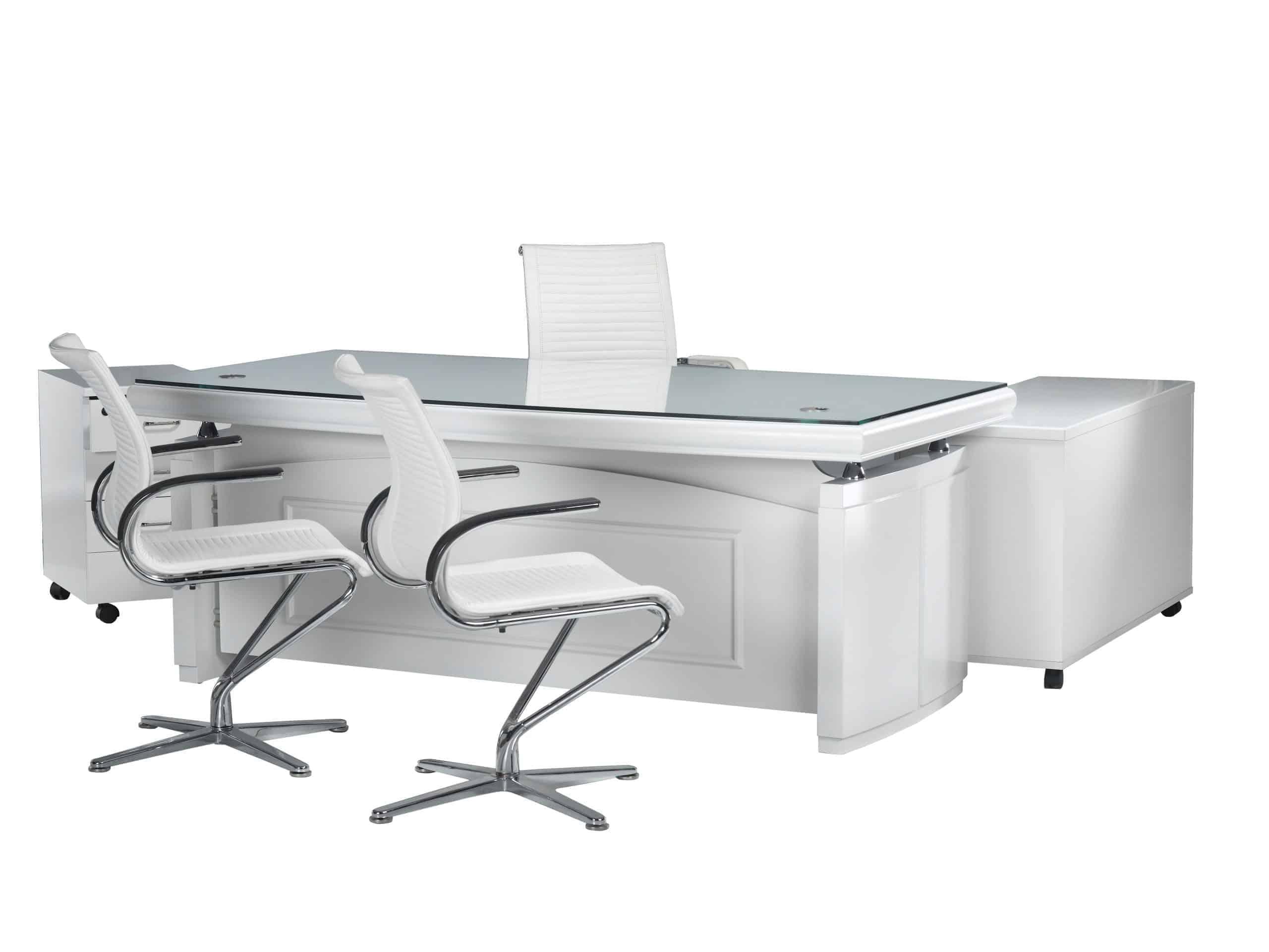שולחן מנהלים עם זכוכית