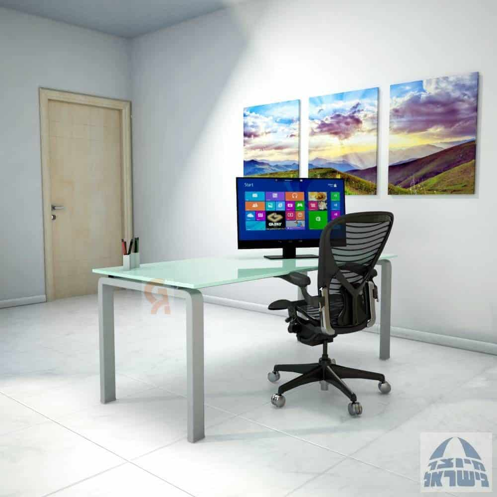 שולחן כתיבה דגם  מורו פלטה זכוכית