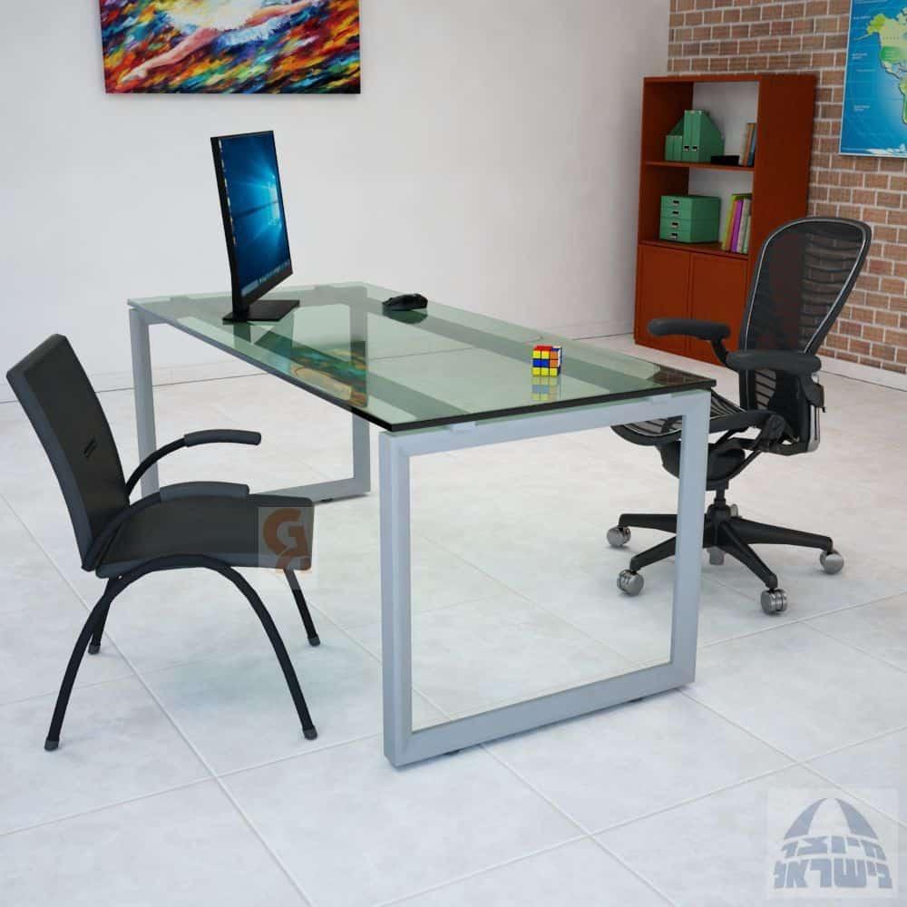 שולחן כתיבה דגם יהלום פלטה זכוכית