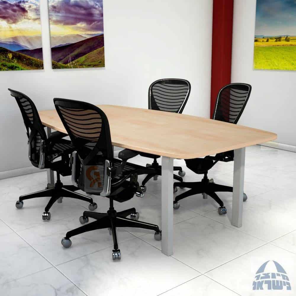 שולחן ישיבות מלבני דגם מורו
