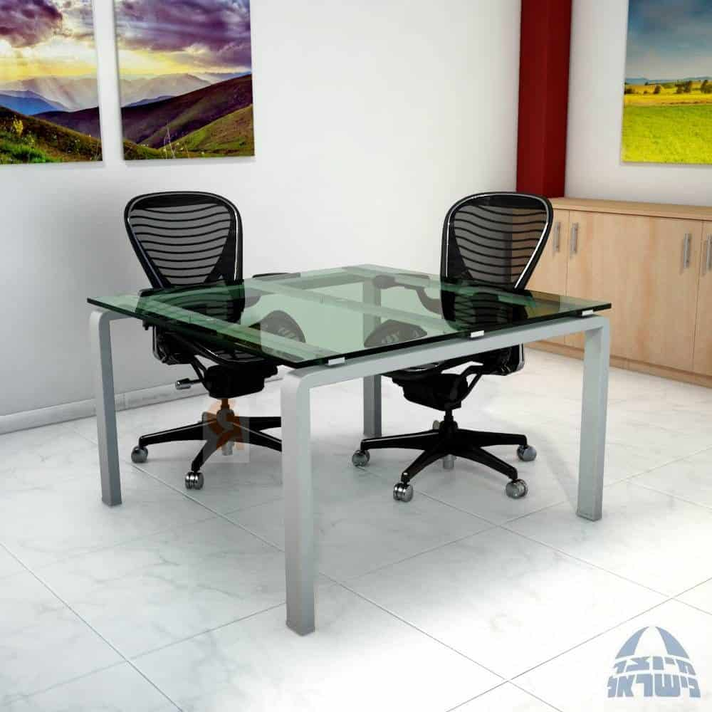שולחן דיונים דגם מורו פלטה זכוכית