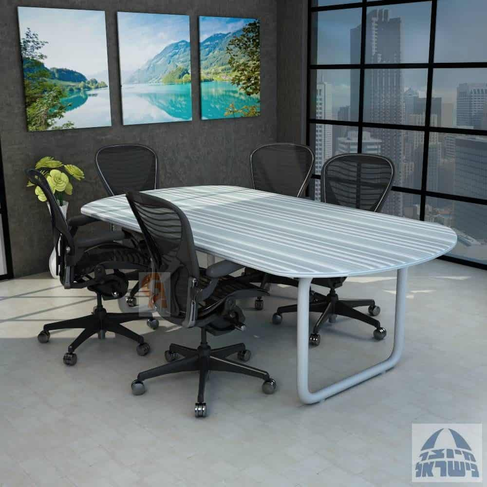 שולחן ישיבות אובלי דגם רינג