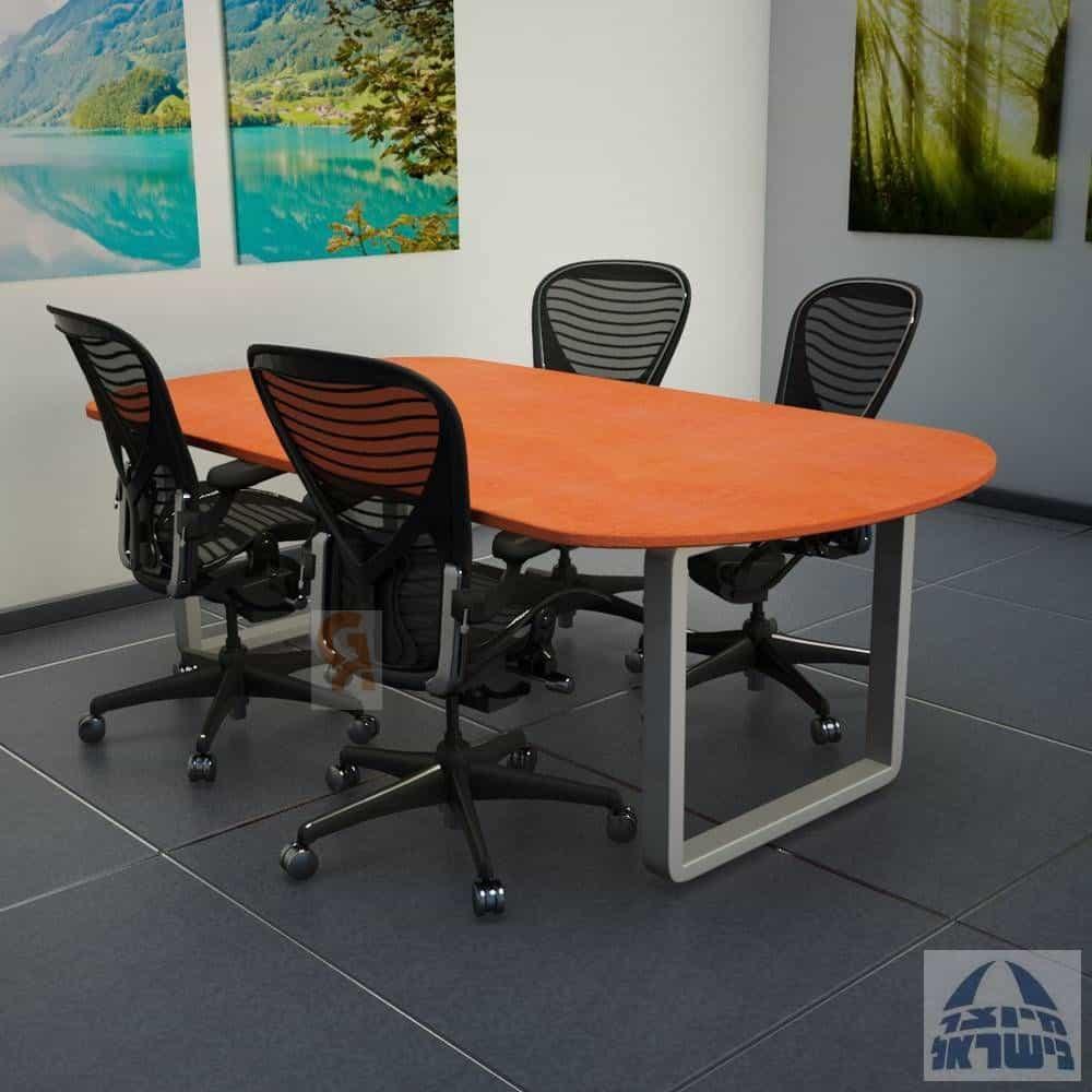 שולחן ישיבות מלבני דגם רונדו