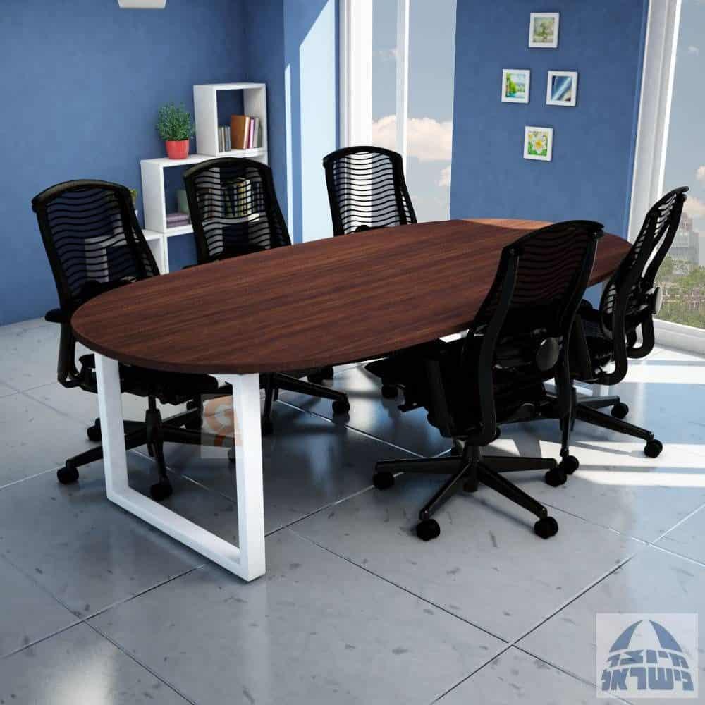 שולחן ישיבות מלבני דגם חלון