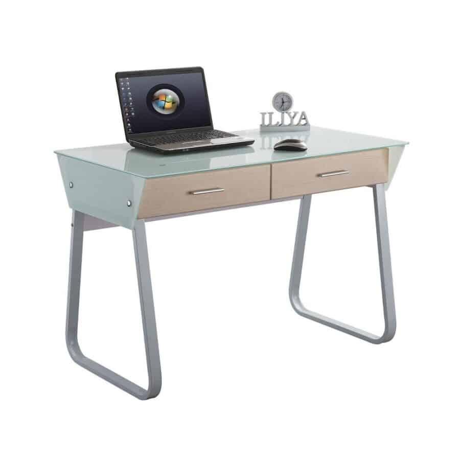 שולחן מחשב בשילוב זכוכית